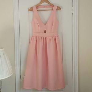 ASOS - open back pink dress
